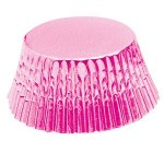 Pink foil cupcake liners