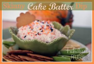 Skinny Cake Batter Dip