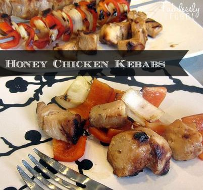 grilled honey chicken kebabs