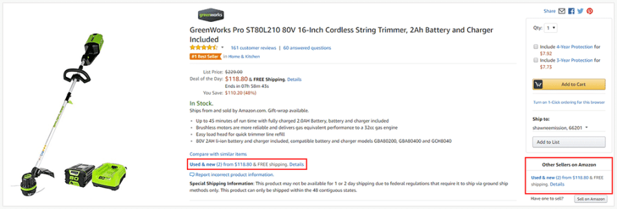 Amazon 3rd party sellers