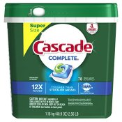 Amazon: 78-Ct Cascade Complete ActionPacs as low as $10.16 (Reg. $18.99)...