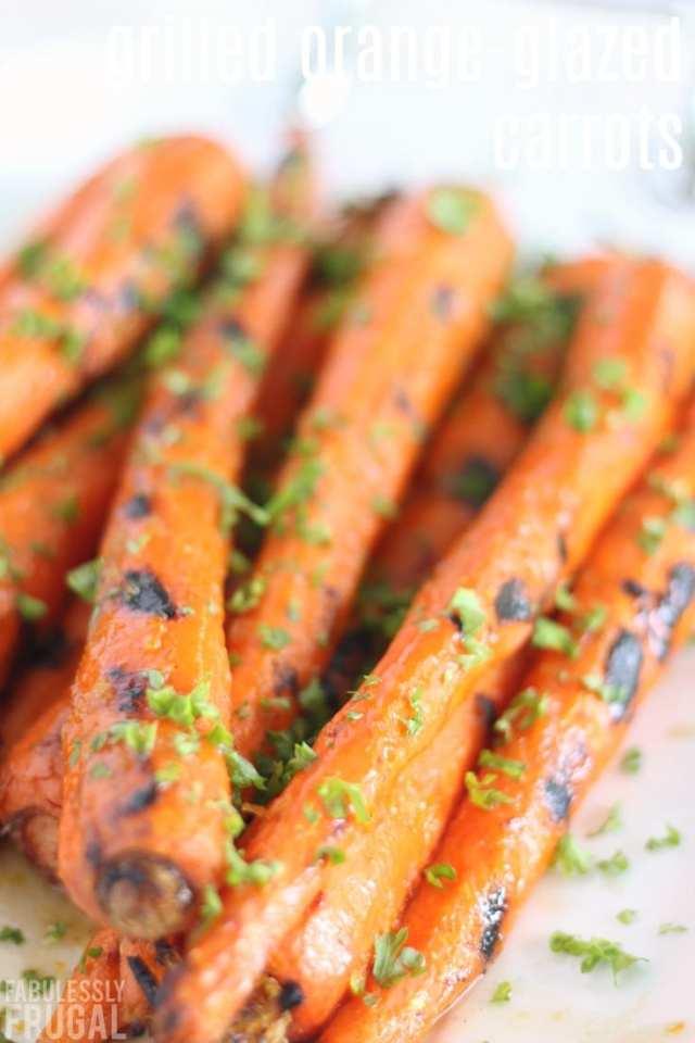 Easy grilled orange-glazed carrots recipe