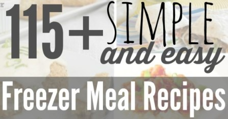 115 Simple Freezer Meal Recipes