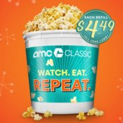 AMC Theatres: 2019 Annual Refillable Popcorn Bucket $20.49 - Cheap Movie...