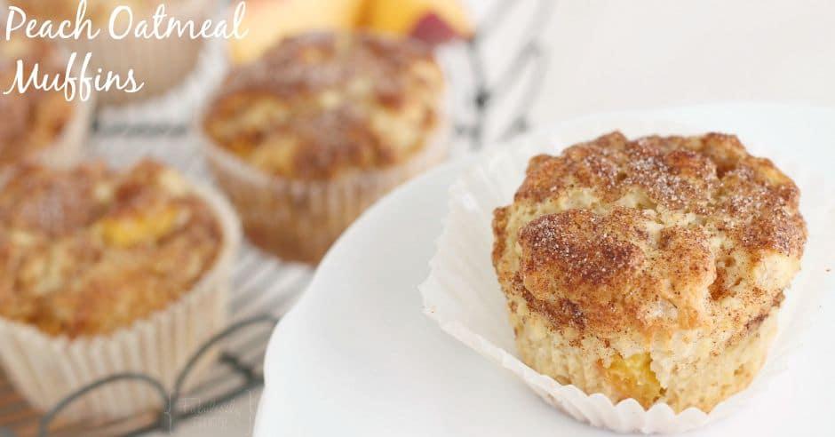 delicious homemade peach oatmeal muffins recipe
