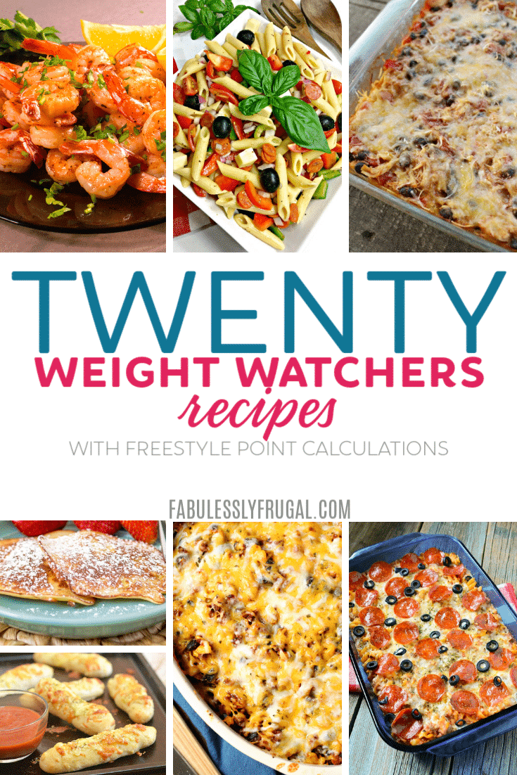 20 Weight Watchers Recipes with Freestyle Points calculations