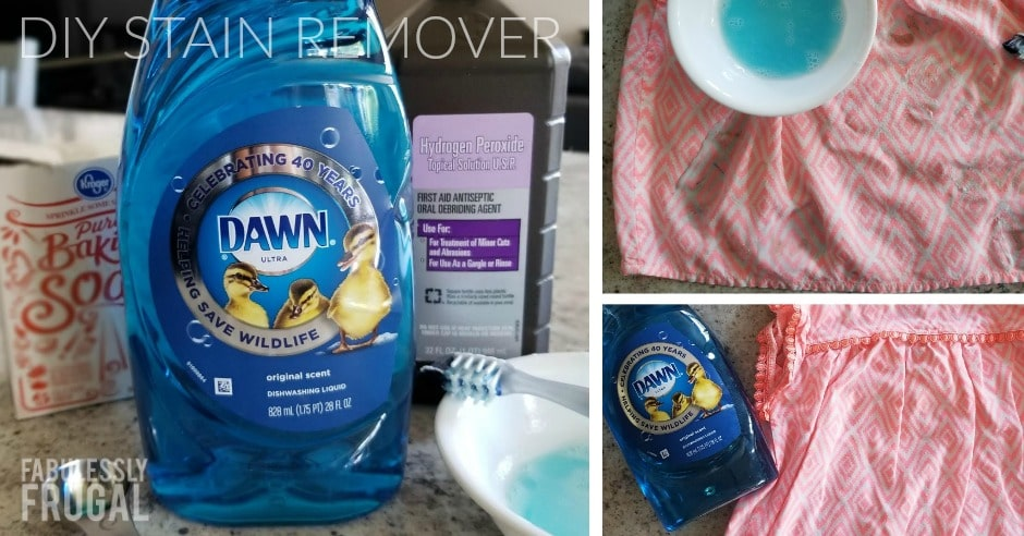 Example of using homemade stain remover