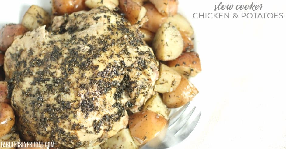 Easy crockpot chicken and potatoes
