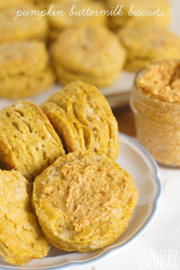 Pumpkin buttermilk biscuits