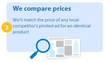 Walmart savings catcher compares prices of local competitors