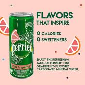 Amazon: 30-Pack Perrier Pink Grapefruit Flavored Carbonated Mineral Water...