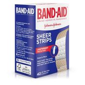 Amazon: 40-Count Band-Aid Sheer Strips Adhesive Bandages $2.34 (Reg. $4.29)