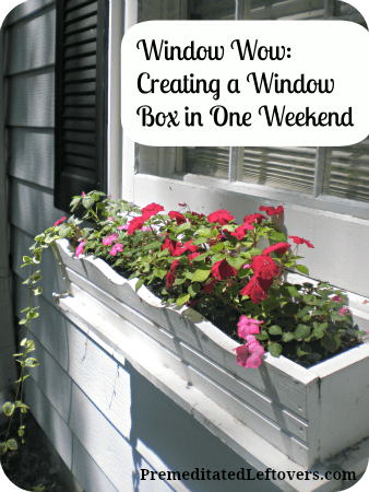 Weekend window box project