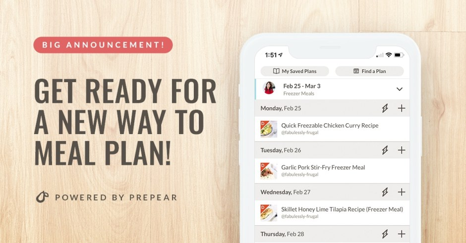 Get ready for a new way to meal plan with prepear