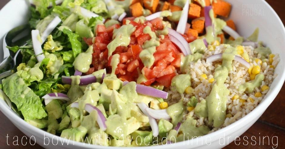 Healthy taco bowl recipe