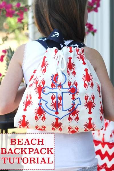 Beach backpack diy