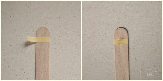 Washi popsicle sticks for chore can
