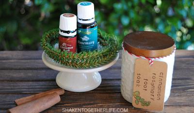 Cinnamon rosemary DIY foot soak