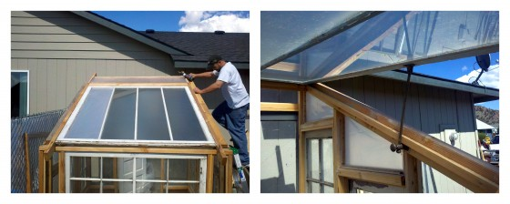 DIY greenhouse roof