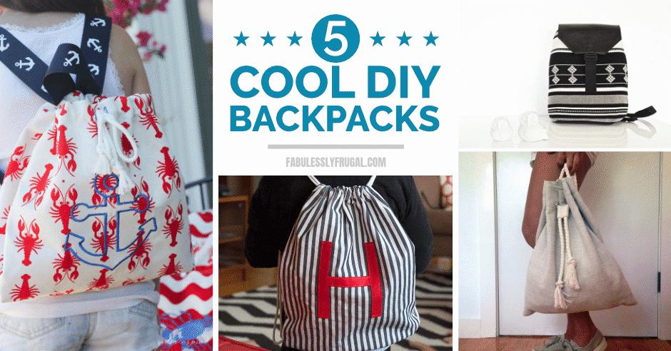 Cool DIY backpacks