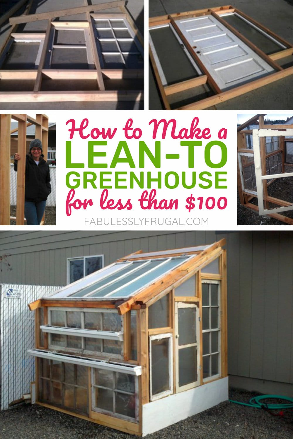 How to make a lean-to greenhouse for less than $100