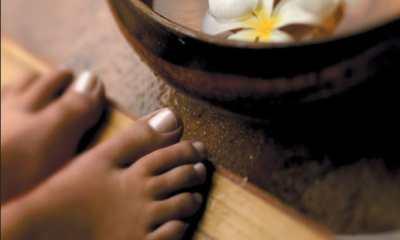 Feet before foot soak