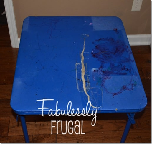 DIY folding table makeover