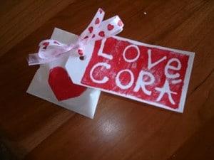 DIY valentine's day tags