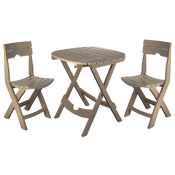 Amazon: 3-Piece Adams Quick-Fold Patio Café Set $58.95 (Reg. $93) + Free...