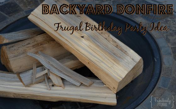 Backyard Bonfire Birthday Idea