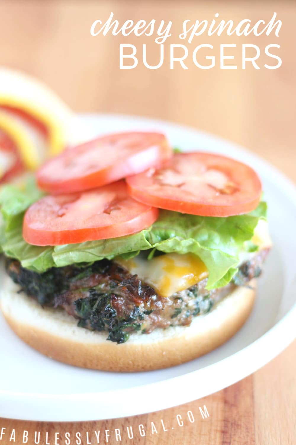 Easy cheesy spinach burgers