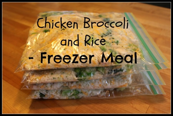 Healthy chicken broccoli rice casserole freezer meal