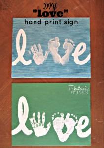 DIY Valentin'es Love sign - final