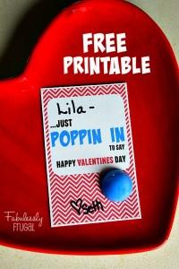 DIY Valentine popper card
