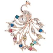 Amazon: Women's Peacock Brooch with Rhinestones $3.64 (Reg. $19.59) + Free...