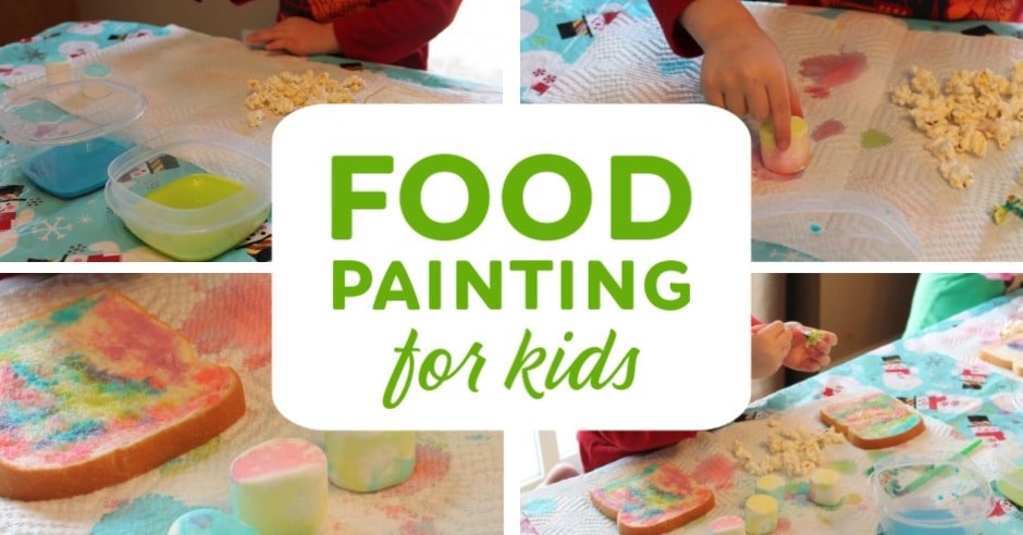 Food paint activity for kids