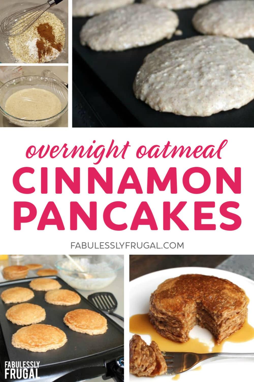 Overnight oatmeal cinnamon pancakes recipe