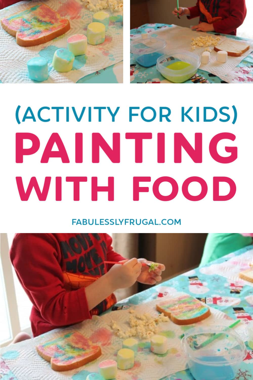 Painting with food activity for kids