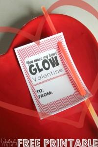 you make my heart glow free valentine printable