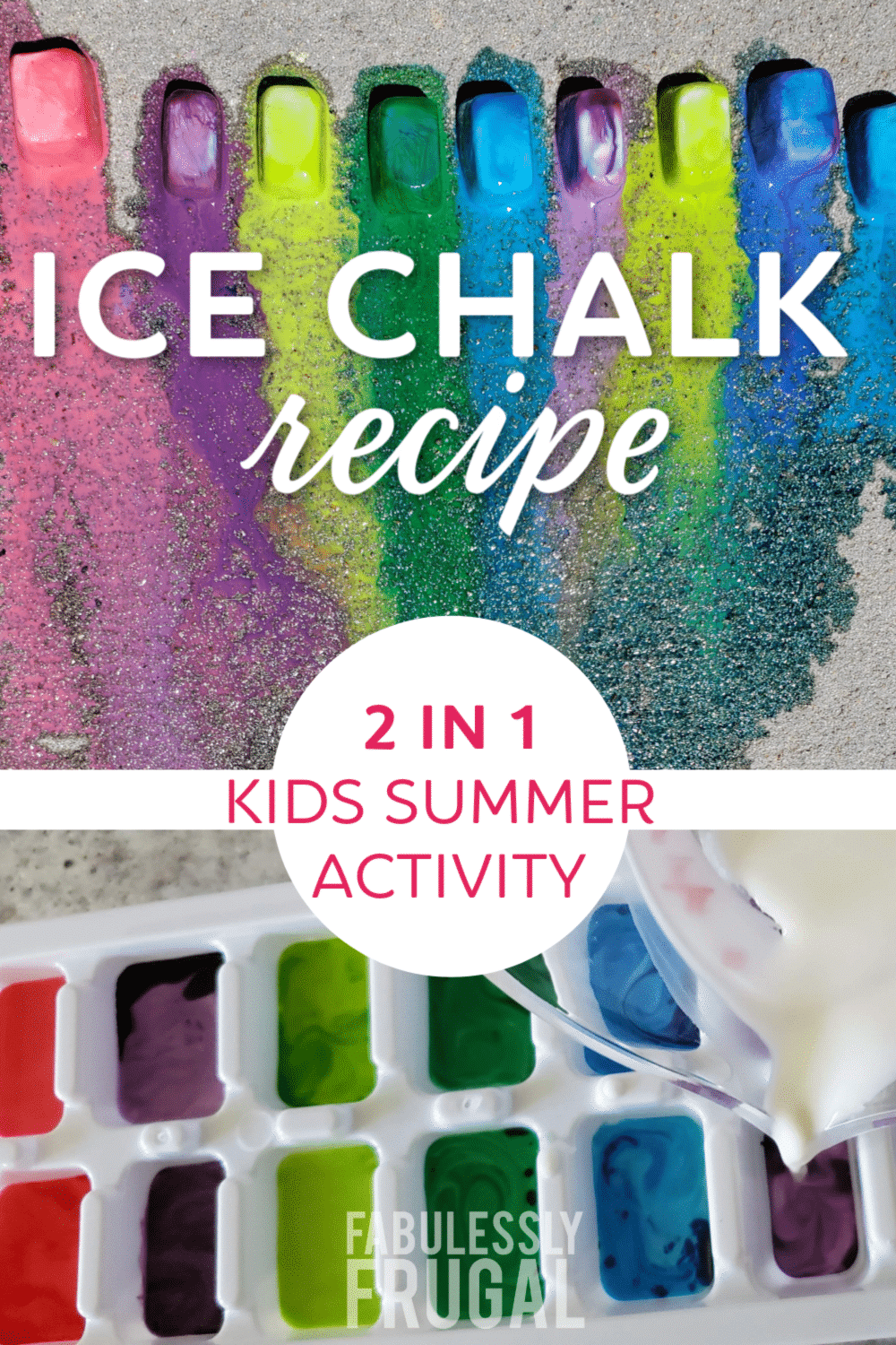 Summer ice chalk activity - two activities in one!