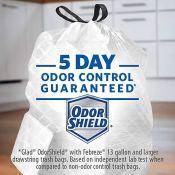 Amazon: Glad Tall Kitchen Drawstring Trash Bags, Mediterranean Lavender,...
