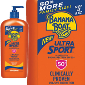 Amazon: Banana Boat Ultra Sport Sunscreen Lotion SPF 50+, 12oz as low as...