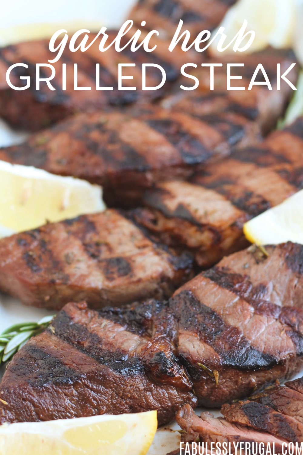 Garlic herb grilled sirloin tips