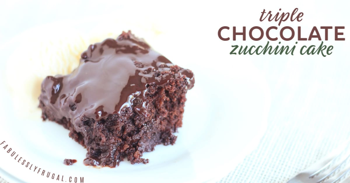 Triple chocolate zucchini cake recipe