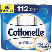 Amazon: Stock Up Price! 36 Family Rolls Cottonelle Ultra CleanCare = 112...