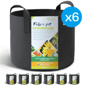 Amazon: 6-Pack 3 Gallon+ Fabric Grow Bags with Handles from $9.89 (Reg....