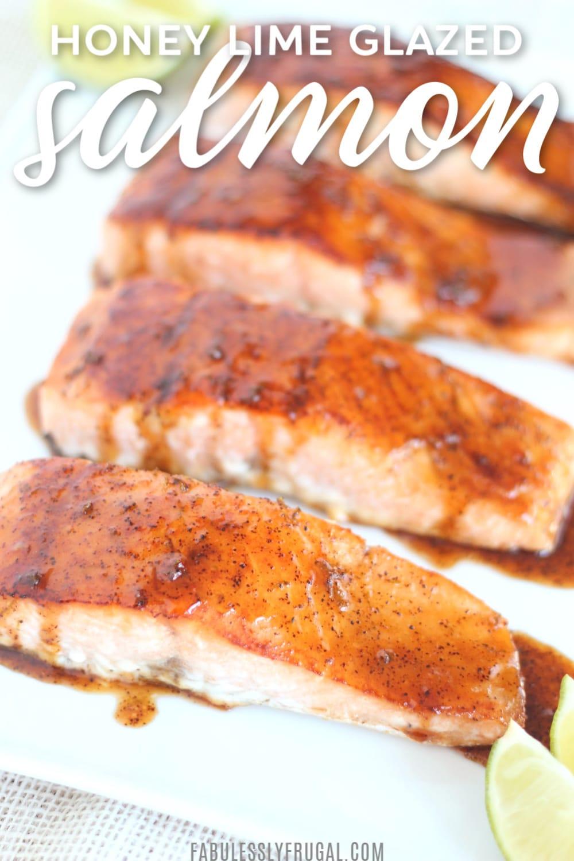 Easy honey lime glazed salmon