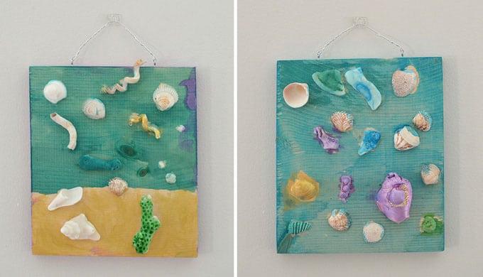 Seashell collage