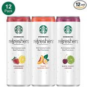 Amazon: 12 Pack Starbucks Refreshers with Coconut Water, Variety Pack,...