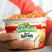 Amazon: 12 Pack Chef Boyardee Beef Ravioli Microwavable Bowls as low as...